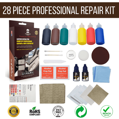 25 Pc DIY Leather and Vinyl Repair Kit: Home Car Boat