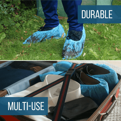 Heavy Duty Disposable Shoe Covers: Blue, 120 Pack