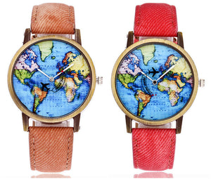 Watch Mini World - Brown and Red