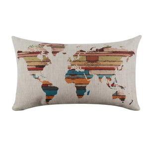 World Map Pillow Case - Stripe