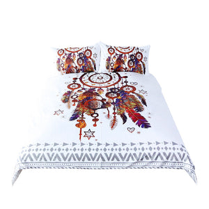 Dreamcatcher bed sheets - white background