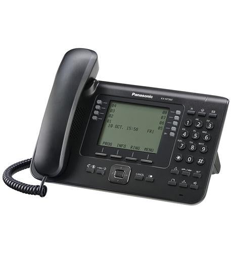 "KX-NT560-B 4.4"" Black Backlit LCD Display IP Phone with 24 Buttons"