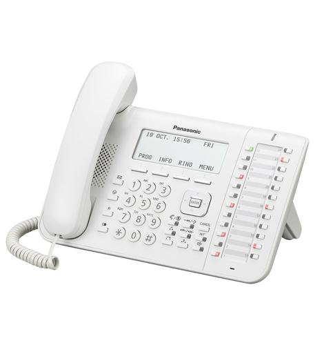 KX-NT546 White 6-Line Backlit LCD IP Phone with 24 Buttons