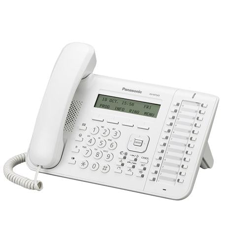 KX-NT543 White 3-Line Backlit LCD IP Phone with 24 Buttons