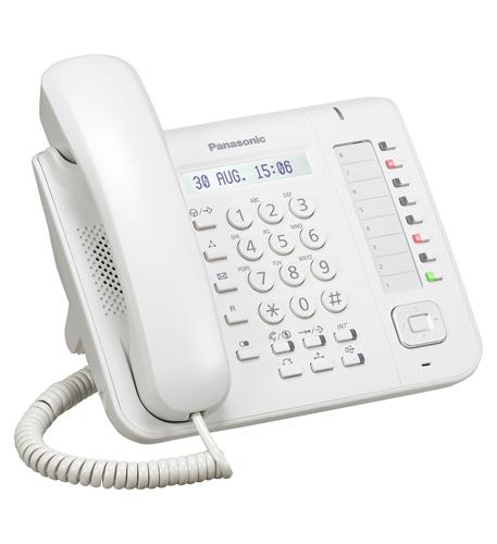 KX-NT551 White 1-Line Backlit LCD IP Phone with 8 Buttons