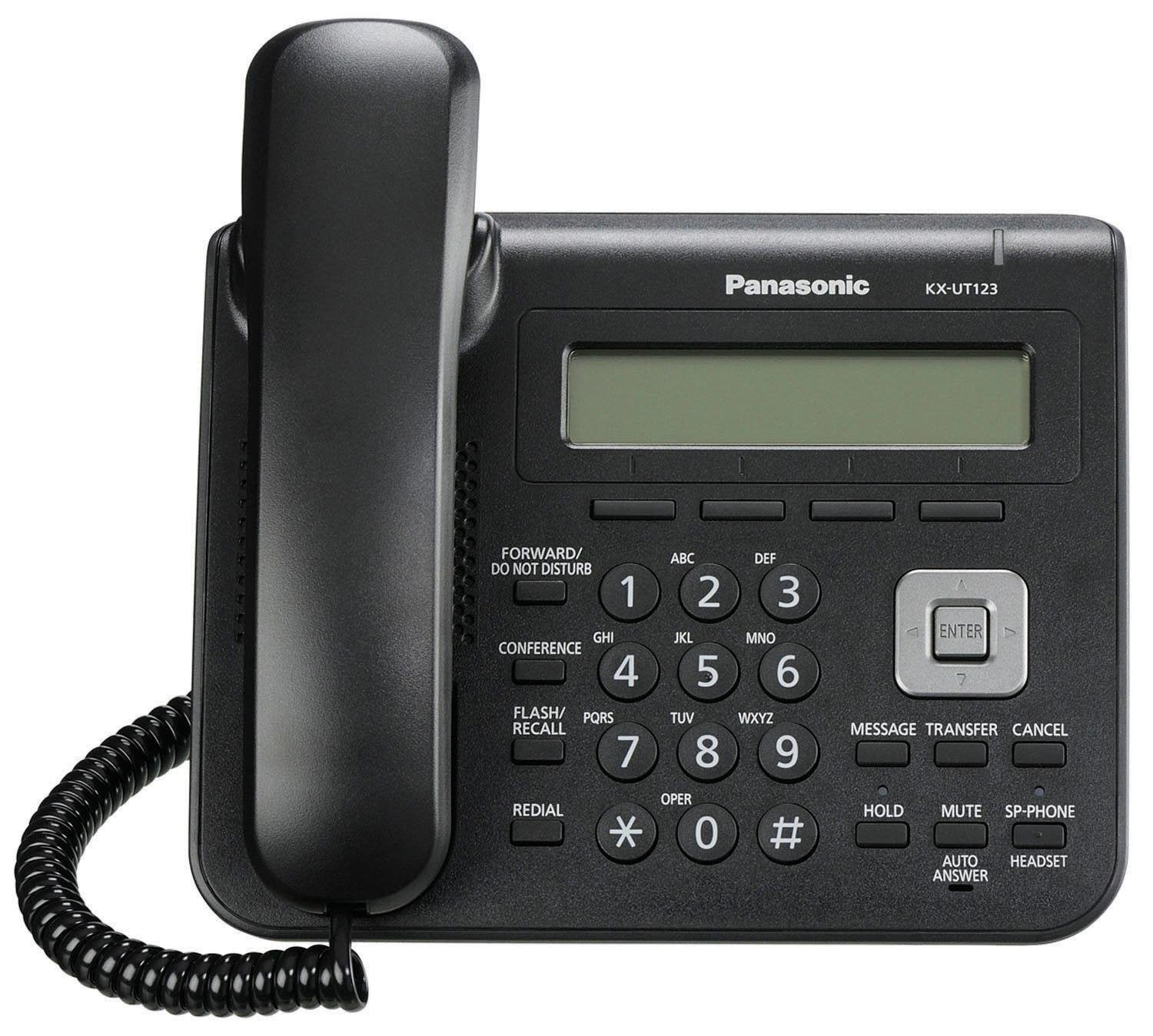 KX-UT123-B Basic SIP Phone with 3-Line Backlit LCD Display and 2 SIP Accounts