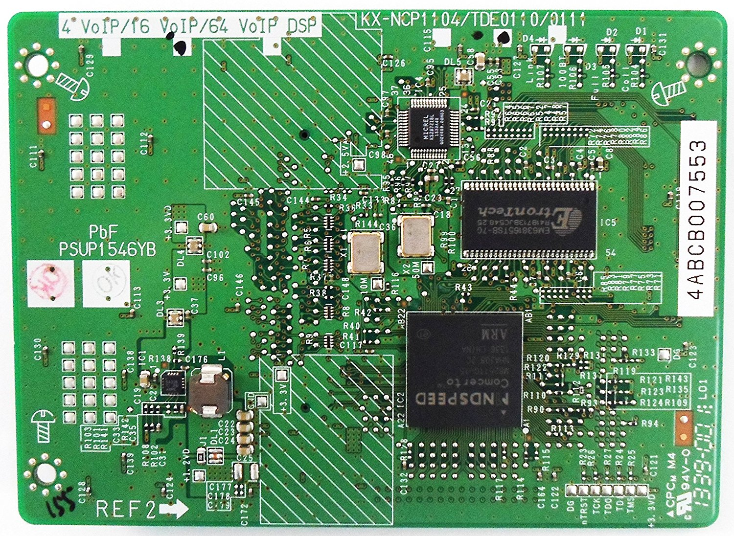 KX-TDE0110 16-Channel VoIP DSP Card (DSP16)