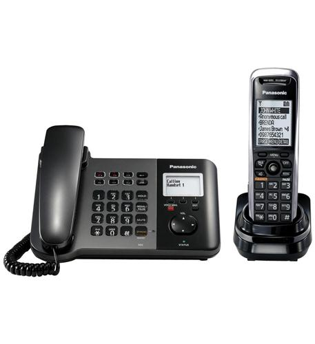 KX-TGP550T04 SIP DECT Phone Corded and Cordless Base