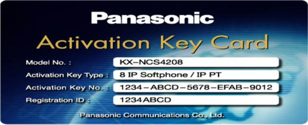 KX-NCS4208 8-Channel IP Soft Phone Activation Key