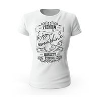 Gildan SoftStyle® Ladies Fitted Ringspun T-Shirt - Moonshine Label - Moonshine eyewear