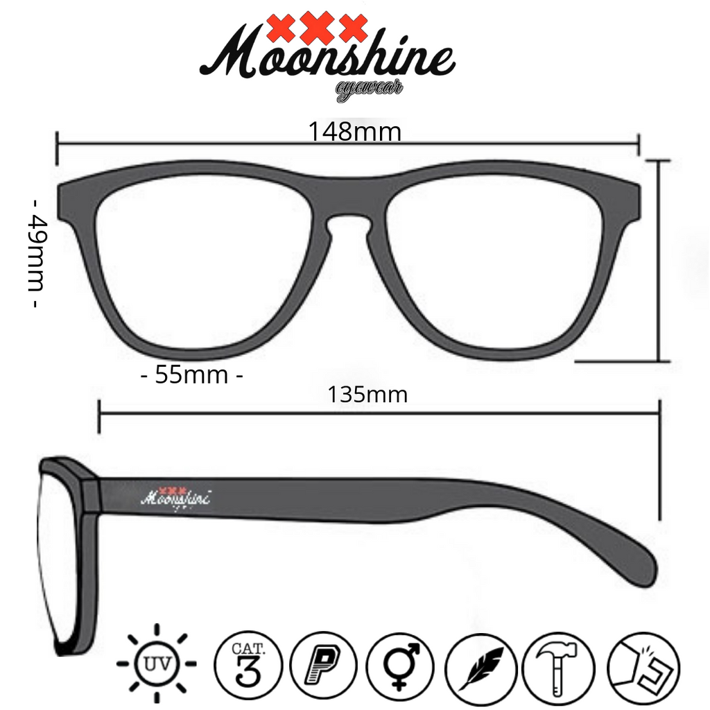 ReMix 2.0 Raw grey & Fire - Moonshine Eyewear