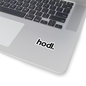 """hodl."" Cut Sticker - General Crypto Store"