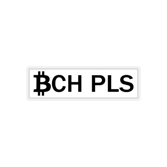 BCH PLS Sticker-Paper products-General Crypto Store