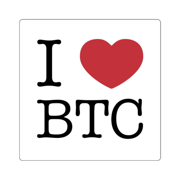I Heart BTC Sticker - General Crypto Store