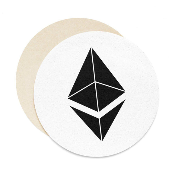 ETH Symbol Coasters - 6pcs - General Crypto Store