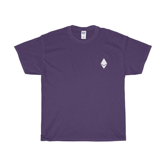 ETH Symbol Over Heart Tee - General Crypto Store
