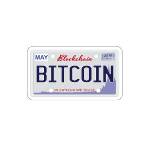 BTC License Plate Sticker - General Crypto Store