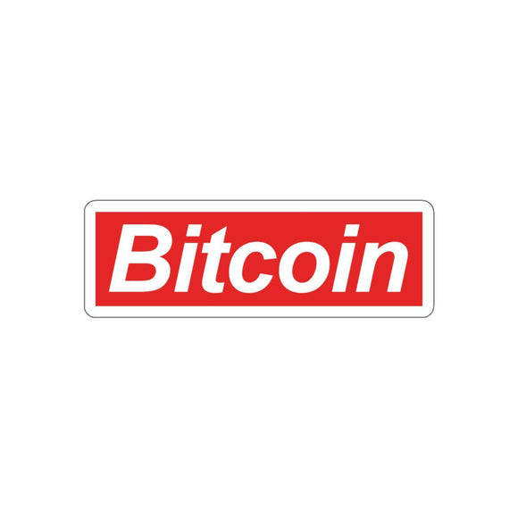 Bitcoin Red Sticker-Paper products-General Crypto Store