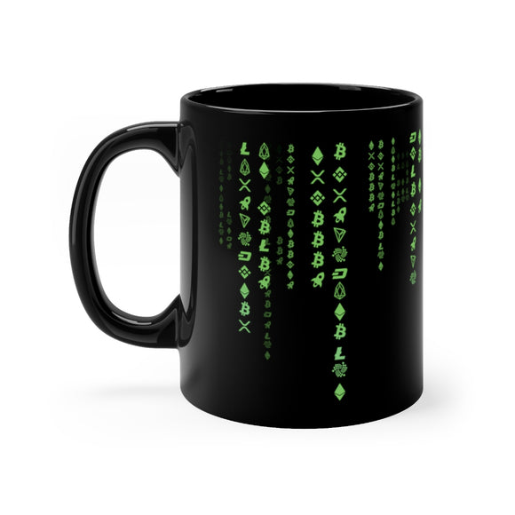 Green Code Crypto 11oz Mug - General Crypto Store