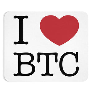 I Heart BTC Mousepad - General Crypto Store