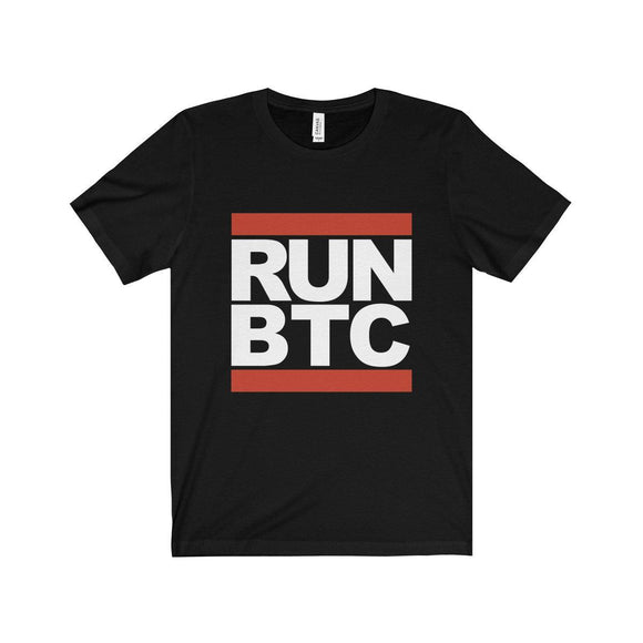 Run BTC Black Tee - General Crypto Store