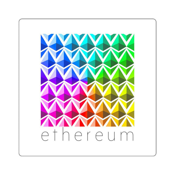 Ethereum Color Sticker-Paper products-General Crypto Store