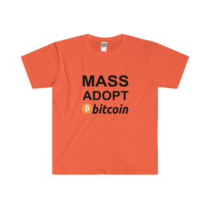Mass Adopt Bitcoin T-Shirt - General Crypto Store
