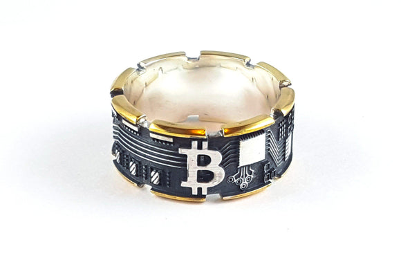 Bitcoin Ring - Gold Plated Silver - General Crypto Store