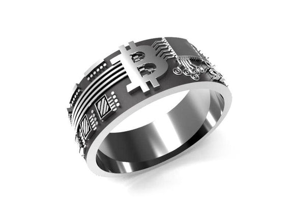 Bitcoin Ring - Silver-Ring-General Crypto Store