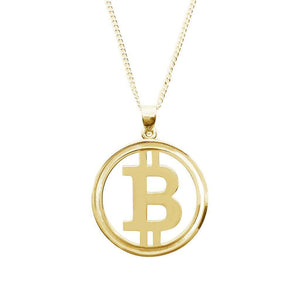 """Bit by Bit"" Gold Necklace - General Crypto Store"