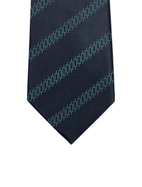 Candlestick Tie - Trader Teal - General Crypto Store
