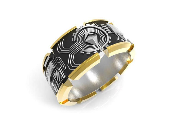 Ethereum Ring - Gold Plated Silver - General Crypto Store