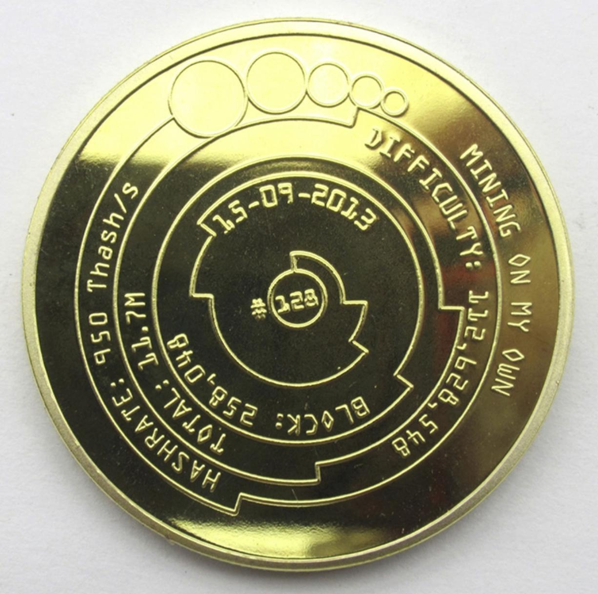 Lined Gold Bitcoin