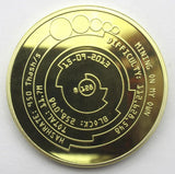 Lined Gold Bitcoin - General Crypto Store
