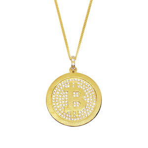 """BlingCoin"" BTC Necklace - General Crypto Store"