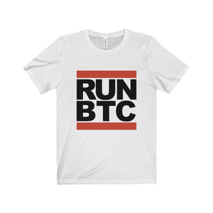 Run BTC White Tee - General Crypto Store