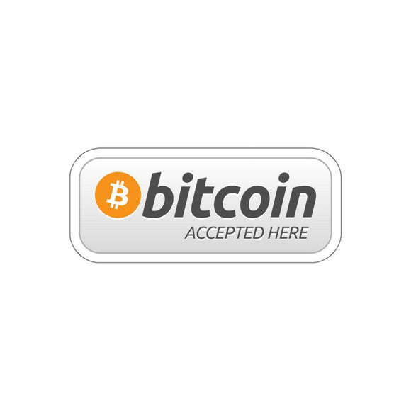 Bitcoin Accepted Here Sticker-Paper products-General Crypto Store