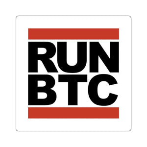 RUN BTC Sticker - General Crypto Store