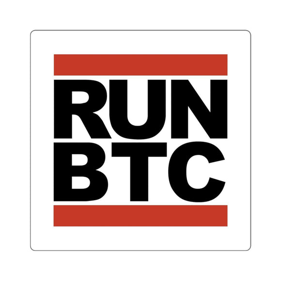 RUN BTC Sticker-Paper products-General Crypto Store
