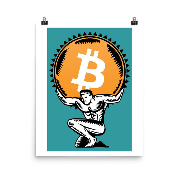 Atlas BTC Poster-General Crypto Store