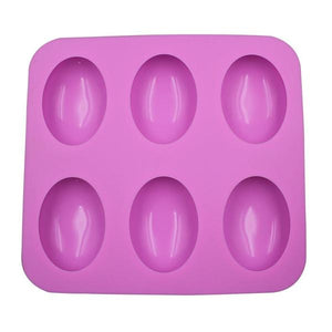 6 Cavity Dome Egg Silicone Soap Mold
