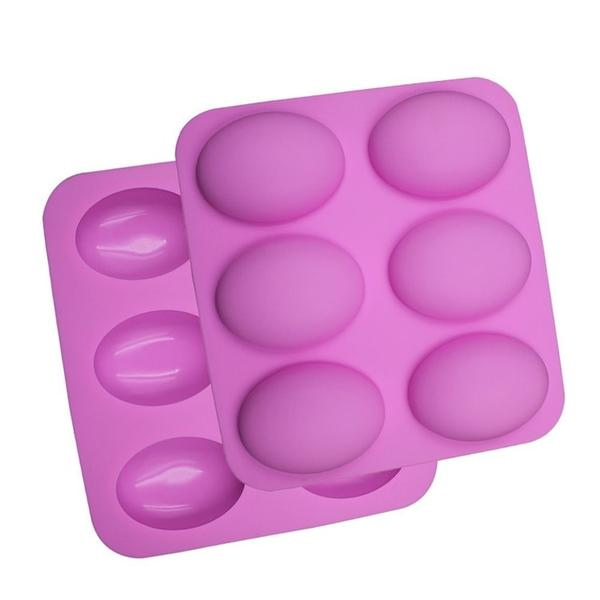 6 Cavity Dome Silicone Soap Mold
