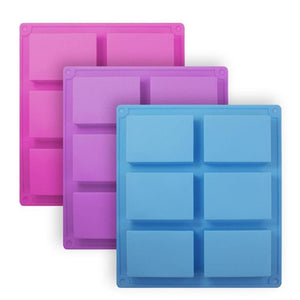 6 cavity rectangle silicone mold