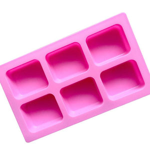 6 Cavity Rectangle Silicone soap Mold