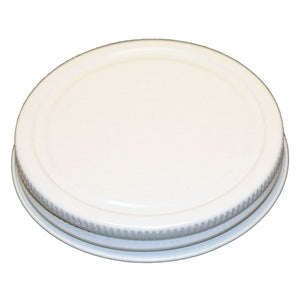70-400 White Metal CT Lid with Plastisol Liner