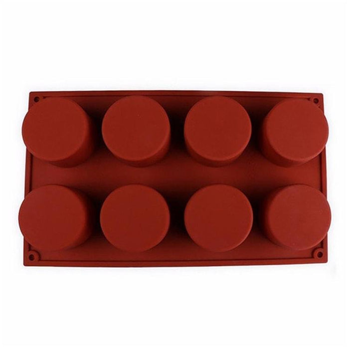 8 Cavity Flexible Circular Silicone Soap Mold