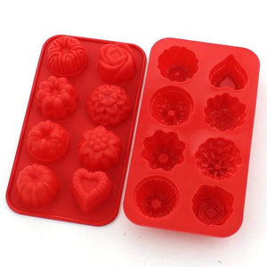 heart flower rose silicone soap tart mold