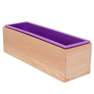 rectangle silicone soap mold wood box