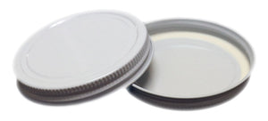 70-400 White Metal CT Lid for candle jars