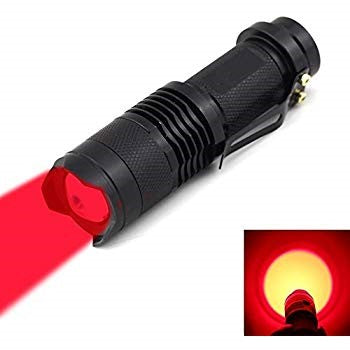 Red Flashlight For Nightime